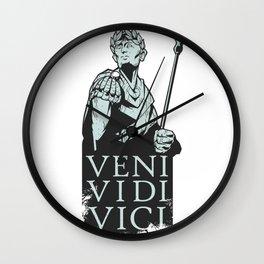 Veni Vidi Vici Julius Caesar Roman Wall Clock