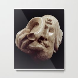 Blowing the Shofar by Shimon Drory Metal Print