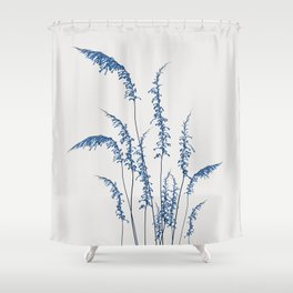 Blue flowers 2 Shower Curtain