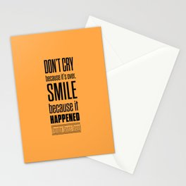 Lab No. 4 - Dr.Seuss smile life Inspirational quote Poster Stationery Cards