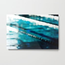 Swiming Pool Metal Print