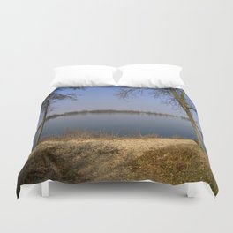 looking to the Lake in Laupheim Duvet Cover