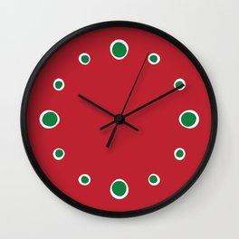 Christmas Dots Wall Clock