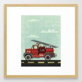 Atomic County Fire Department Framed Art Print