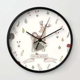 Love You My Dear Wall Clock