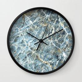 Blue Water Waves Wall Clock