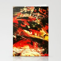 camp Stationery Cards featuring Camp Fire by James Peart