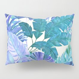 Tropical Leaf Blue Pillow Sham