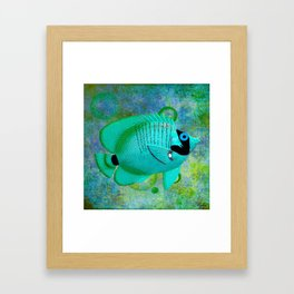 ANGEL FISH BLUE Framed Art Print