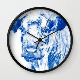Ardnamuchan Coo - Blue Wall Clock