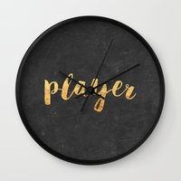 2pac Wall Clocks featuring Player by Text Guy