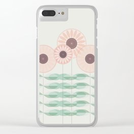 Blushing garden Clear iPhone Case