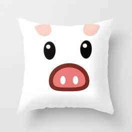 pig chinese new year year funny gift Throw Pillow