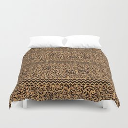 Golden Renaissance Damask Duvet Cover