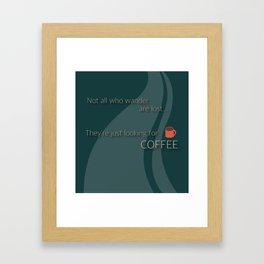 Coffee Wanderlust Framed Art Print
