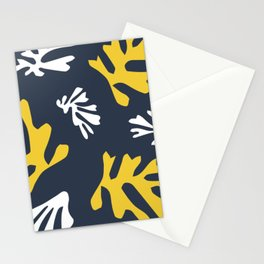 Matisse White & Gold Leaves Stationery Cards