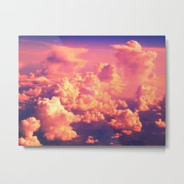 The Clouds at Sunset Metal Print