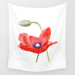 Red Poppy by Teresa Thompson Wall Tapestry