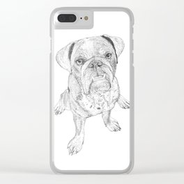 The English Bulldog Clear iPhone Case