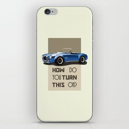 The Classic Game Cheat Code: How do you turn this on Funny Blue Cobra Car iPhone Skin