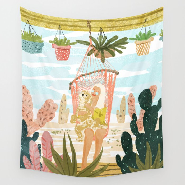 Desert Home Wall Tapestry
