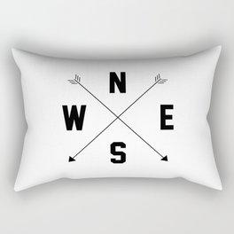 Letterman Compass Rectangular Pillow