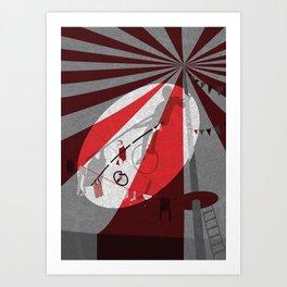 Tightrope walker Art Print
