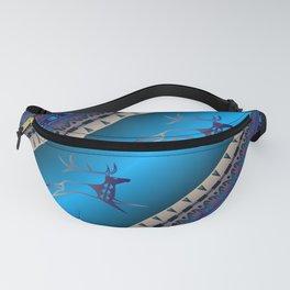 Elk Spirit (Blue) Fanny Pack