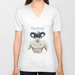 Taurus Sign - Zodiac series by OccultArt Unisex V-Neck