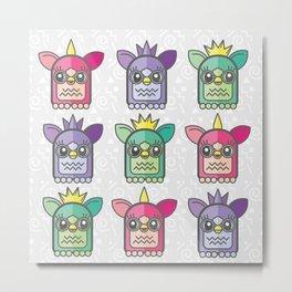 Nineties Furby Pattern  Metal Print