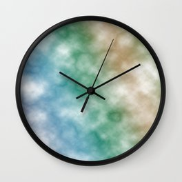 Rainbow marble texture 2 Wall Clock