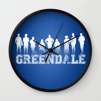 community Wall Clocks featuring Community - Greendale Community College by Jackdoc