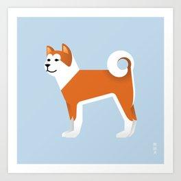 Akita Art Print