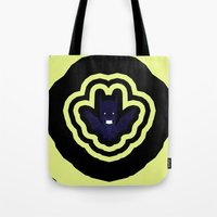 bat man Tote Bags featuring bat by Nir P