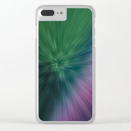 Calamity of Clashing Colors Clear iPhone Case