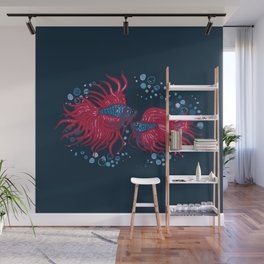Fighting fish Wall Mural