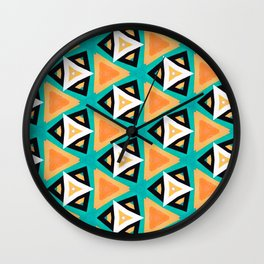 Indian Triangles Wall Clock