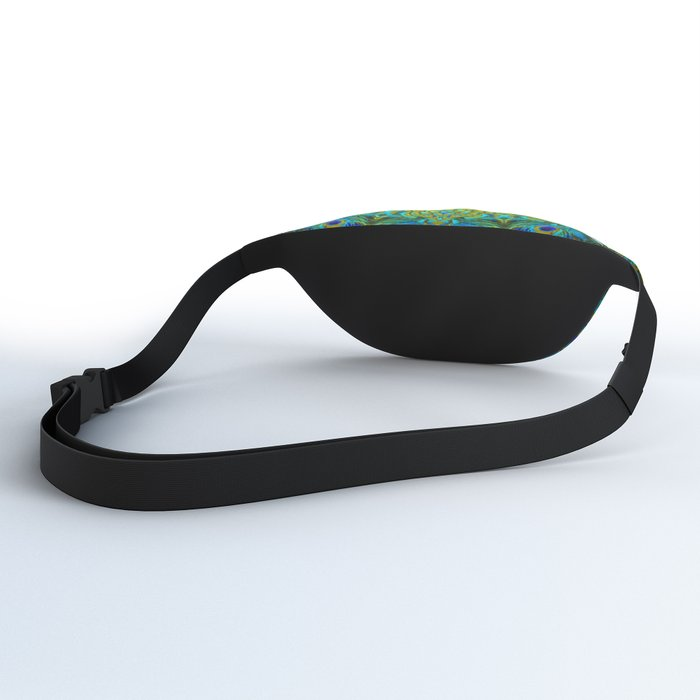 Peacock Feathers - Blue Fanny Pack