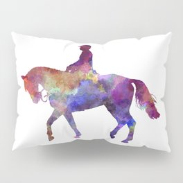 Horse show 02 in watercolor Pillow Sham