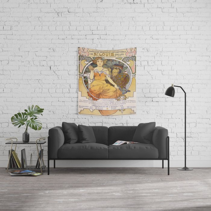 Vintage poster - Exposition Universelle & Internationale de St. Louis Wall Tapestry