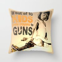 jessica lange Throw Pillows featuring JESSICA by ARTito