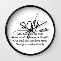 2014 A New Year Quote  Wall Clock
