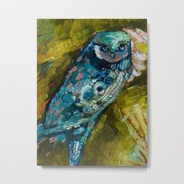 """""""Owl Eyes I"""" by Lindsay R. Wiggins Metal Print"""