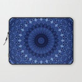 Mandala in deep blue tones Laptop Sleeve