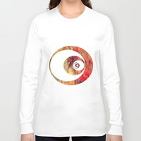 butterfly Long Sleeve T-shirts featuring Butterfly   by Aloke Design
