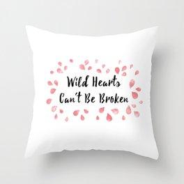 Wild hearts Can't be Broken Throw Pillow
