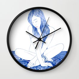 Water nymph XCVIII Wall Clock