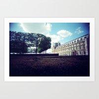 Louvre Gardens I Art Print