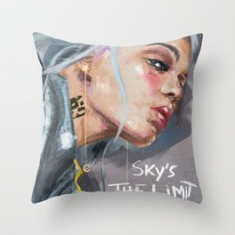 Sky's the Limit - The Ladies series Throw Pillow