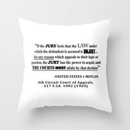 Jury Nullificaton Case Law Quote Throw Pillow